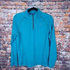 Under Armour 3/4 Zip Pullover Cold Gear Size YXL